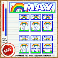 Free Printable Charts For Classroom Free Printable May Classroom Calendar For School Teachers