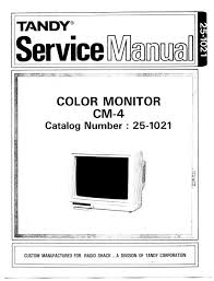 trb 1021 08 black white. tosec cm4 color monitor service manual 19xxtandy251021 size 1932233 publisher tandy trb 1021 08 black white