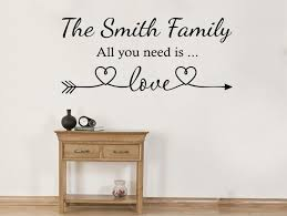 personalised all you need is love wall art sticker quote vinyl transfer  on personalised wall art stickers quotes with personalised all you need is love wall art sticker quote vinyl transfer