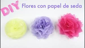 Cmo hacer FLORES de PAPEL de SEDA | DIY | How to make tissue paper flowers