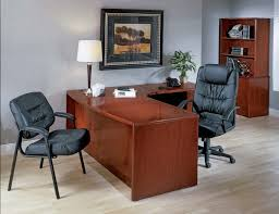 elegant office desk. Wonderful Desk Office Table Lamp Placed On L Shaped Desk Combined With Elegant  Furniture At Contemporary Home Decor Wooden Flooring Cheap Modern  To E