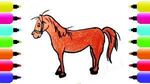 How To Draw Horse Coloring Pages For Kids Art Colors For Children