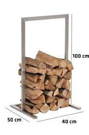 Firewood Rack SIDONE Stainless Steel Log Basket Stand Holder Fire Wood  Storage