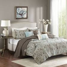 california king quilt sets. Madison Park Geneva 6-Piece King/California King Coverlet Set In Brown California Quilt Sets A