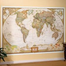 political world map wall mural contemporary decoration political world map wall mural wallpaper within besttabletforme