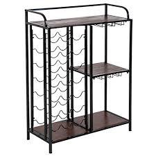 HOMCOM 7-tier <b>21</b> Bottles <b>Wine Rack</b> Storage Display Shelves ...