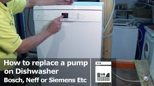 See Through Dishwasher Dishwasher How To Replace A Pump Bosch Neff Or Siemens E25 Fault
