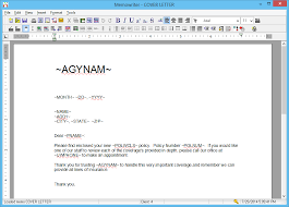 Memowriter Create A Form Letter Template Agency Systems Wiki