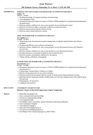 Mechanical Project Engineer Resume Examples