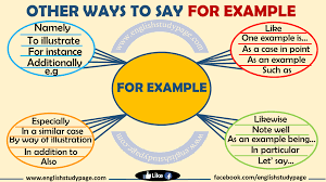 Other Ways To Say FOR EXAMPLE - English Study Page