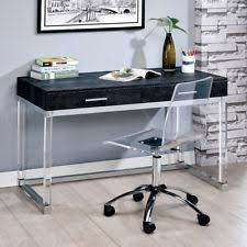 clear office desk. Tilly Work Office Writing Computer Desk Crocodile Top Drawer Clear Acrylic  Chair Clear Office Desk L