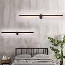 black wall lamp minimalist metal