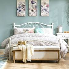 wooden and metal beds white metal bed frame single size scroll work headboard classic wooden slats wooden vs metal beds