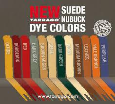 color chart tarrago suede nubuck dye