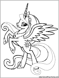13 Dessins De Coloriage My Little Pony Celestia Imprimer