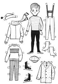 Small Picture For Kids Paper Dolls to Color and Cut Out Kids Fun Pinterest