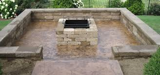 firepit decorative concrete