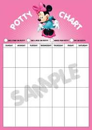Printable Potty Training Chart Minnie Mouse Minnie Potty Chart Minnie Mouse Potty Training Reward