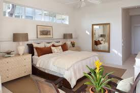 Narrow Bedroom Interior Design For Long Narrow Bedroom With Ceiling Fan And White