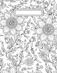 Coloring Page Binder Cover Back To School Binder Cover Adult Coloring Pages Craft Ideas
