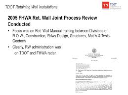 Fhwa Mse Wall Design Manual Tdot Retaining Wall Installations Ppt Download
