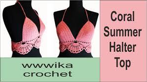 Free Crochet Halter Top Pattern Gorgeous DIY Crochet Halter Top Crochet Bikini Free Pattern Tutorial Part 48