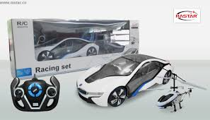 bmw i8 car model helicopter battery powered rastar speed twins 2 4 colour white