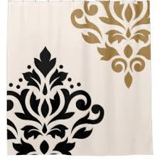 white and black shower curtain. Black And Gold Shower Curtain Scroll Damask Art I - On Meucpfo White