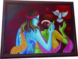 buy radha krishna hand painted art  radha krishna modern art