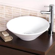 bathroom urban white wall mount or sink without at sinks from countertop bowl traditional cone cloakroom counter top basin stylish round in