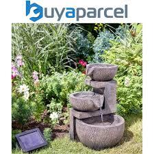 details about smart garden solar genoa cascade oriental garden water feature fountain