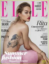 Rita Ora Shows Off Tattoo In Topless Sexy Elle Uk Cover Photo
