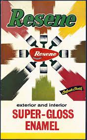 Turnbull Ephemera Resene Paints Were First Made In