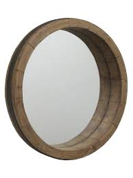 wood wall mirrors. Description: Framed Wall Mirror: Wine Barrel Wooden Mirror Measurements: 19½\ Wood Mirrors R