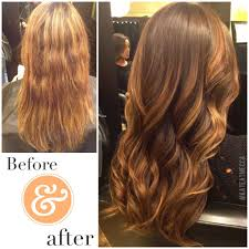 Hair Makeover Before And After Darkened