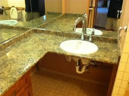 handicapped accessible bathroom sink counter. roll under bathroom sink with lots of counter space. handicapped accessible