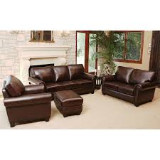 Top Grain Leather Living Room Set Amberlyn 4 Piece Top Grain Leather Living Room Set