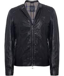 tumbled leather k racer jacket