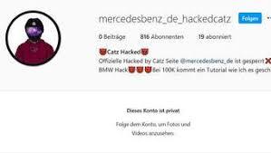Daimler Ag Unbekannte Hacken Instagram Account Von Mercedes Stuttgart