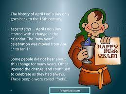 April fool's day - online presentation