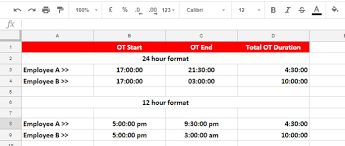 Overtime Calculation In Excel Format The Best Overtime Calculation Formula In Google Sheets