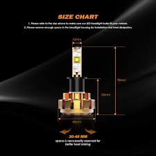 Led Headlight Bulbs Auxbeam F 16 Series H3 Led Headlight Bulb Conversion Kit 60w 6000lm Super Bright Led Chips Fog Light Halogen Headlight