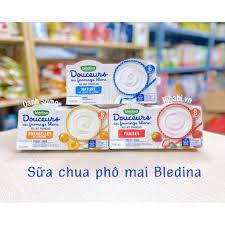 Sữa chua phô mai Bledina cho bé - Dâu 8m | Bột, cháo ăn dặm
