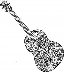 Make a special picture for your music teacher. Coloring Pages Guitar Doodle Coloring Pages