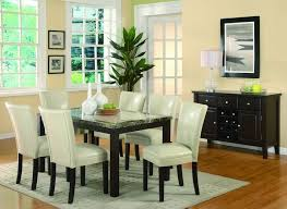 arlington round sienna pedestal dining room table w chestnut finish. coaster 7 pc carter collection espresso finish wood faux marble top dining table set with cream leather like vinyl upholstered chairs. arlington round sienna pedestal room w chestnut r