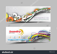 laundry service business ad web banner stock vector  laundry service business ad web banner header layout template