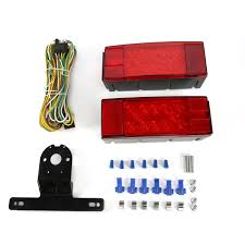 Trailer Lights Not Working On One Side Details About Left Right Screws 12 24v Led Trailer Lights Profile Submersible And Waterproof