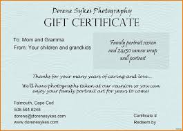 038 T Certificate Wording Examples Photography Sample
