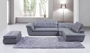 397 italian leather sectional sofa with