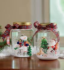 Mason Jar Decorations For Christmas Decorations Mason Jar Snow Globes For DIY Christmas Ornament 48